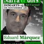 Eduard Màrquez al Narra el dors del Carmel