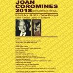 Premis Nacionals Joan Coromines 2018