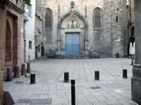 Imatge actual de la plaça de Sant Just