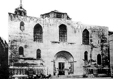 Façana de la Catedral al 1880.